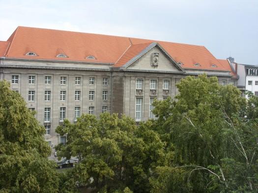 Das deutsche Verteidigungsministerium von meinem Fenster aus gesehen.